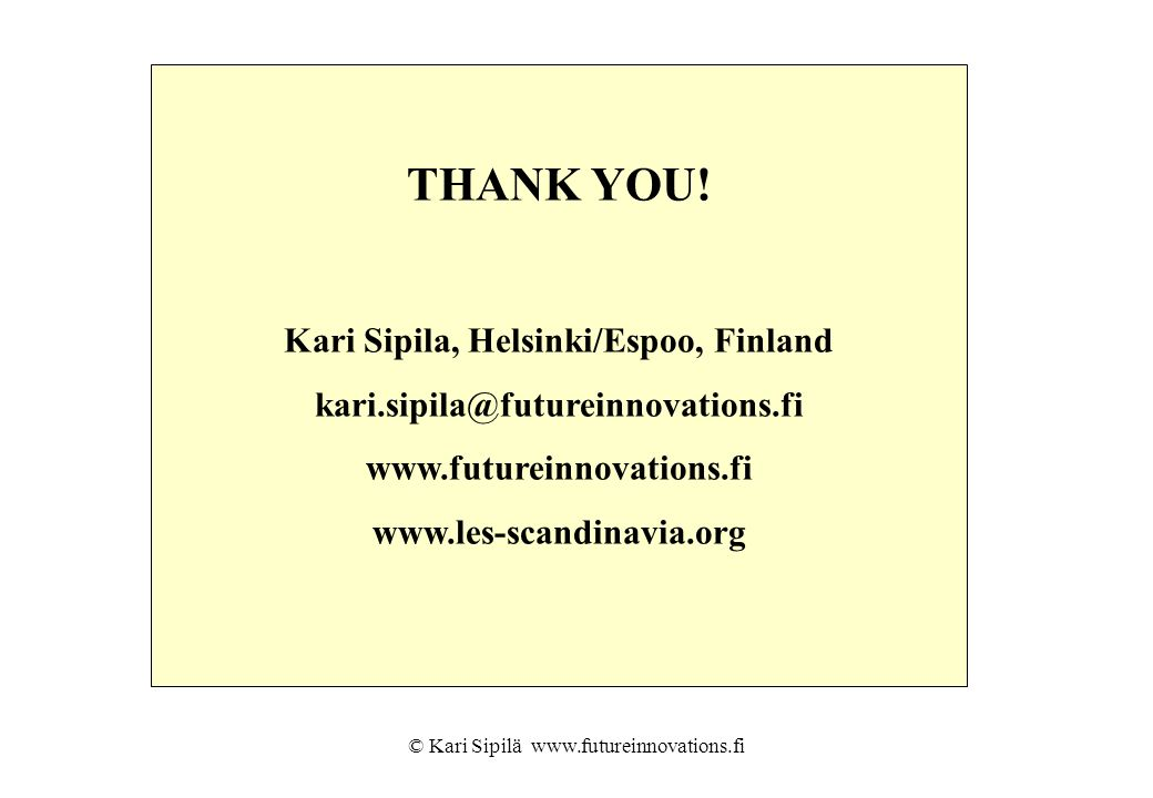 Kari Sipila, Helsinki/Espoo, Finland