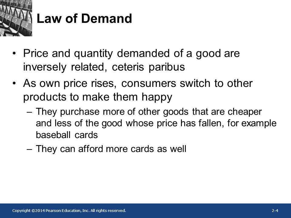 ceteris paribus price and quantity demanded have an relationship