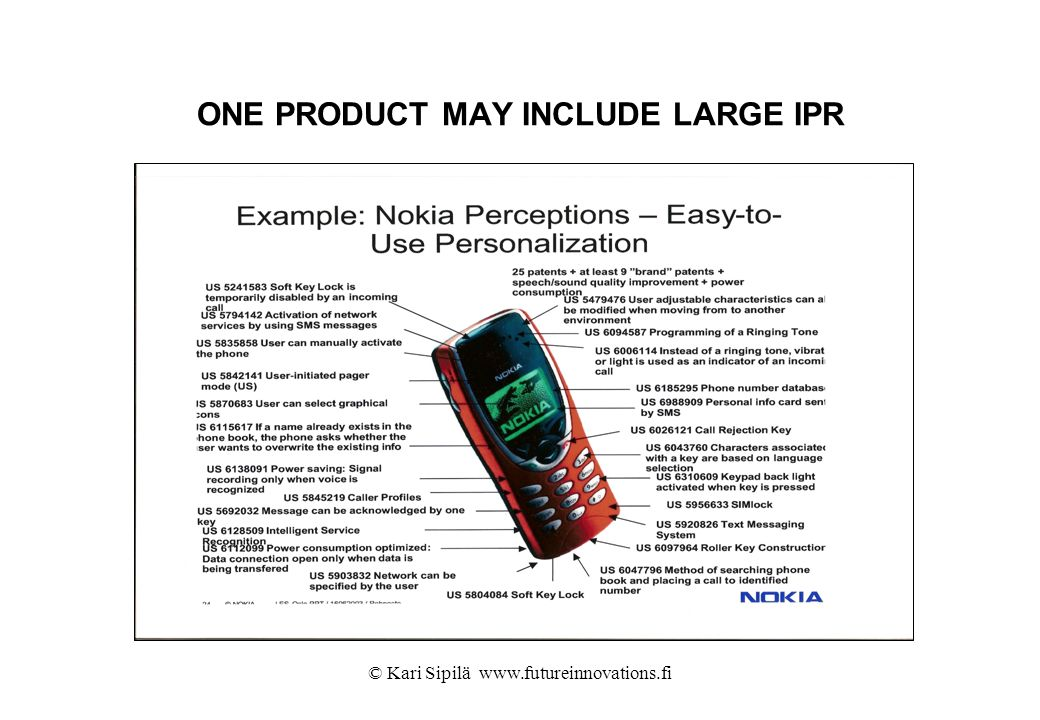 ONE PRODUCT MAY INCLUDE LARGE IPR