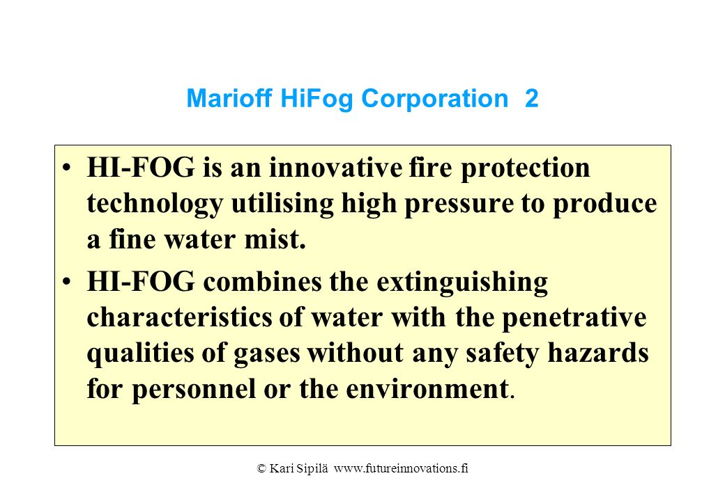 Marioff HiFog Corporation 2