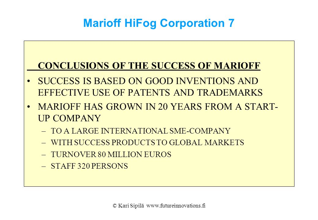 Marioff HiFog Corporation 7