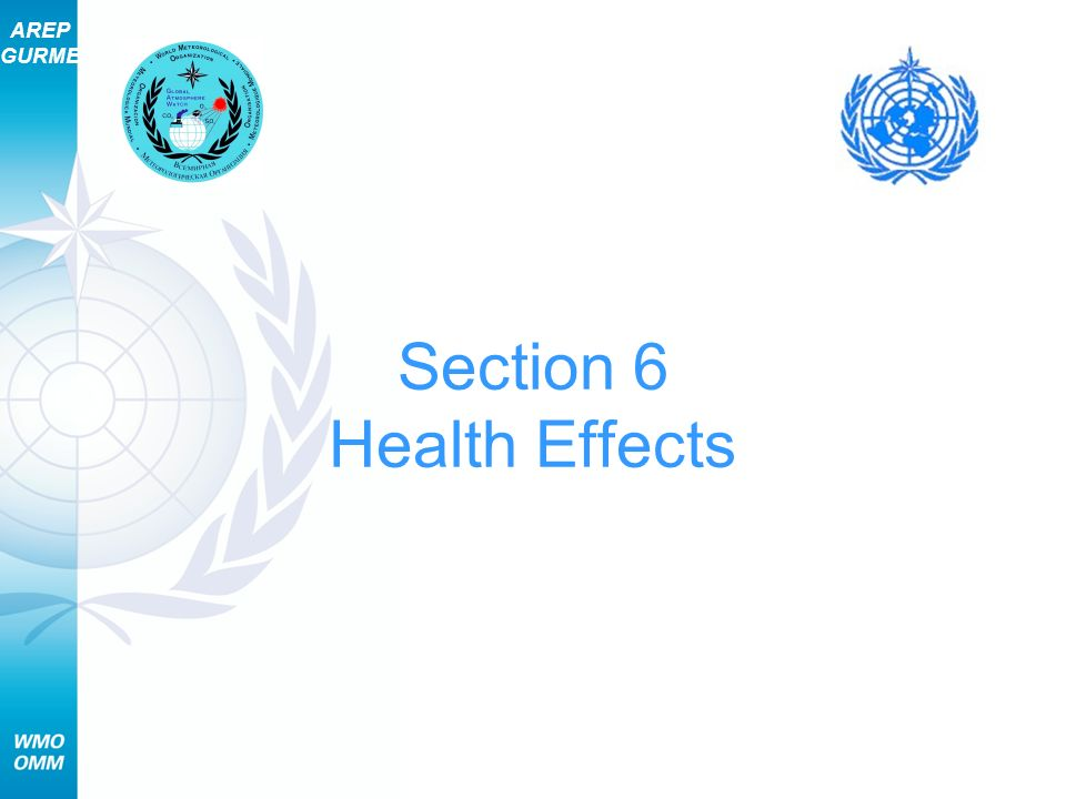 Section 6 Health Effects