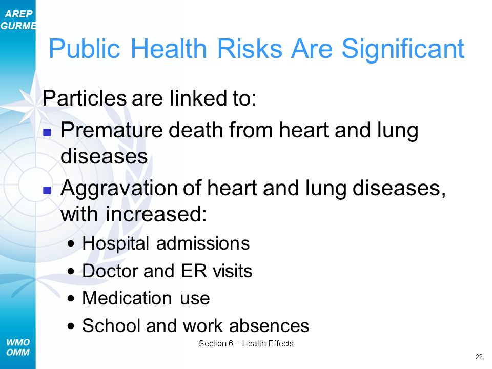 Public Health Risks Are Significant