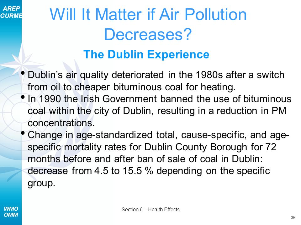 Will It Matter if Air Pollution Decreases