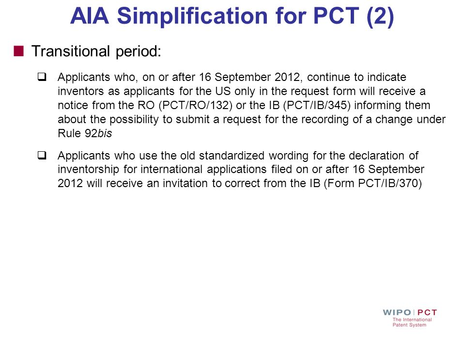 AIA Simplification for PCT (2)