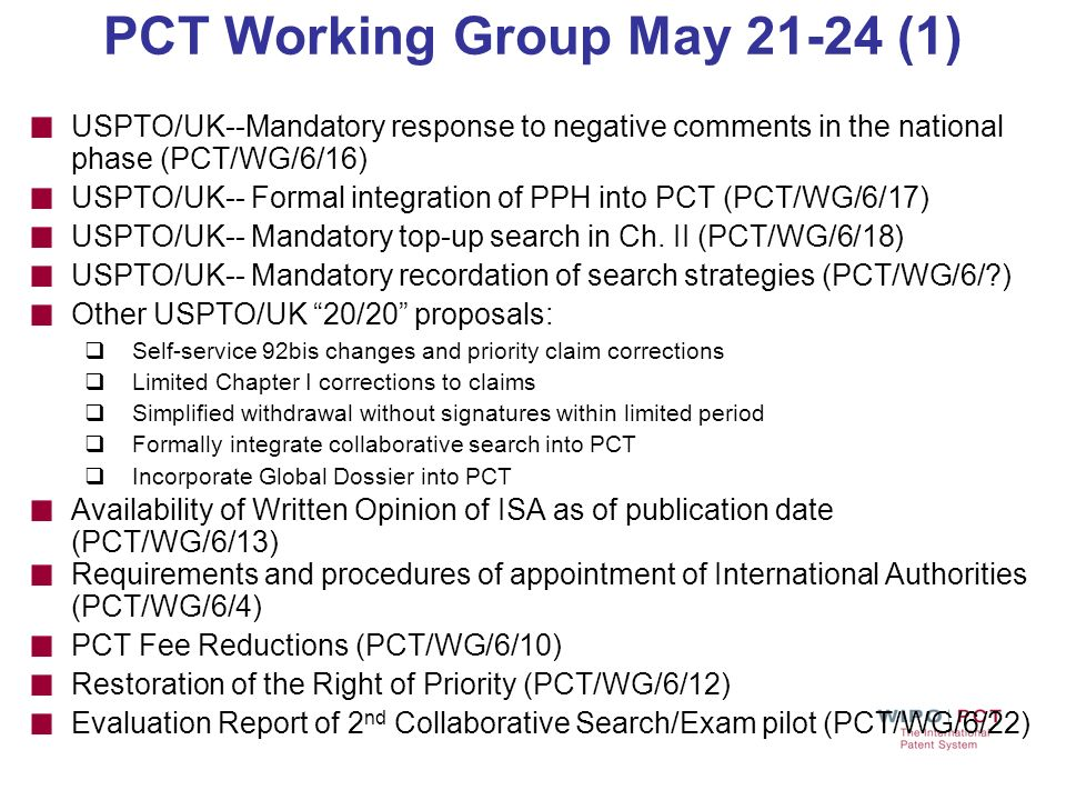 PCT Working Group May 21-24 (1)