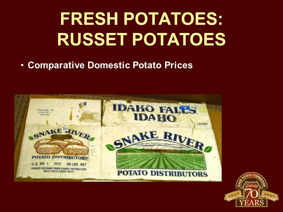FRESH POTATOES: RUSSET POTATOES