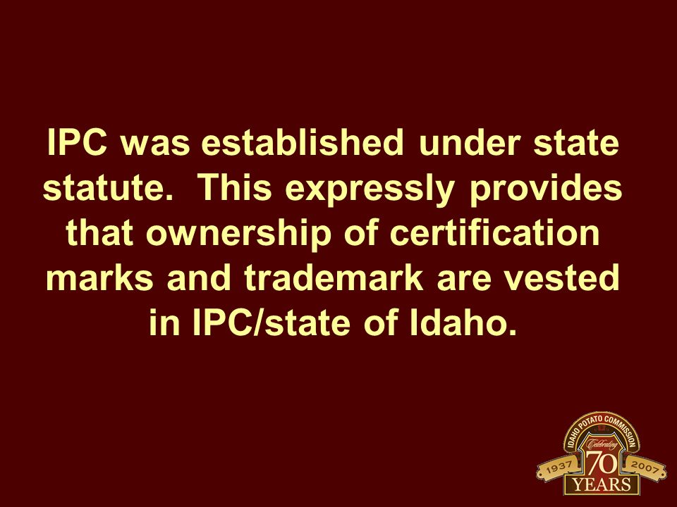 IPC was established under state statute