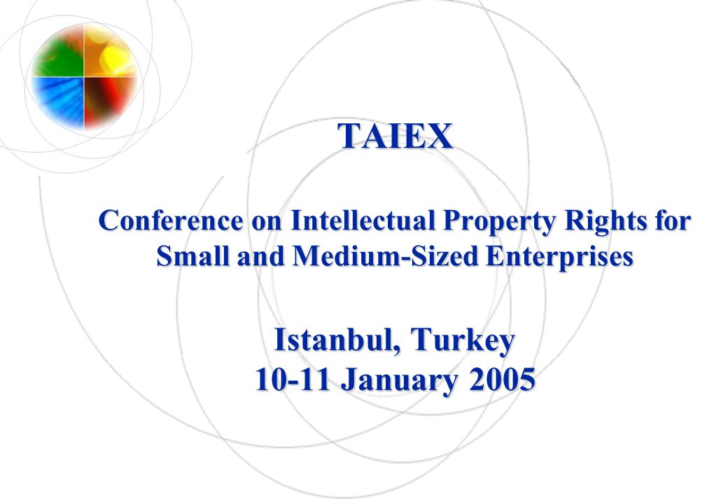 TAIEX Conference on Intellectual Property Rights for Small and Medium-Sized Enterprises Istanbul, Turkey 10-11 January 2005