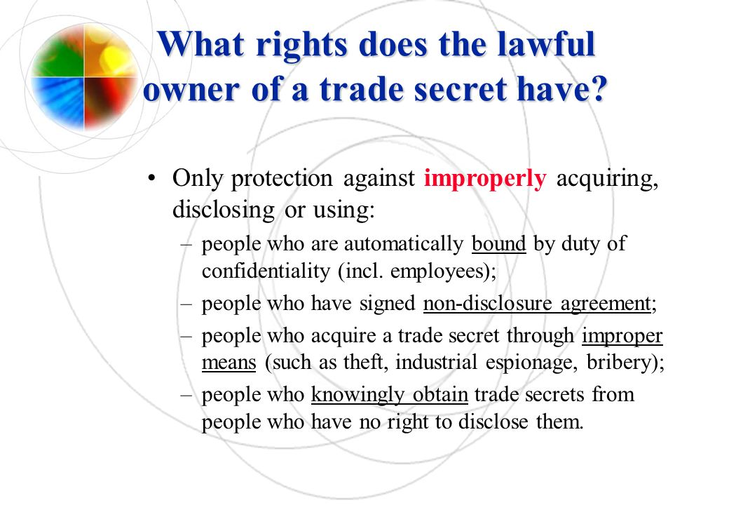 What rights does the lawful owner of a trade secret have