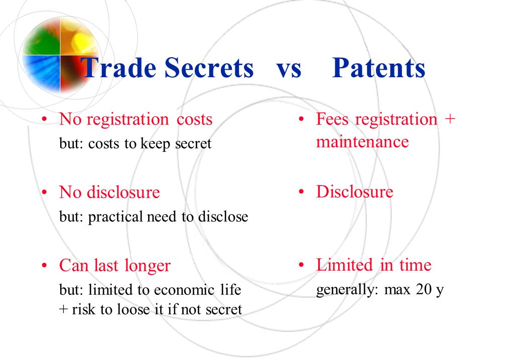 Trade Secrets vs Patents