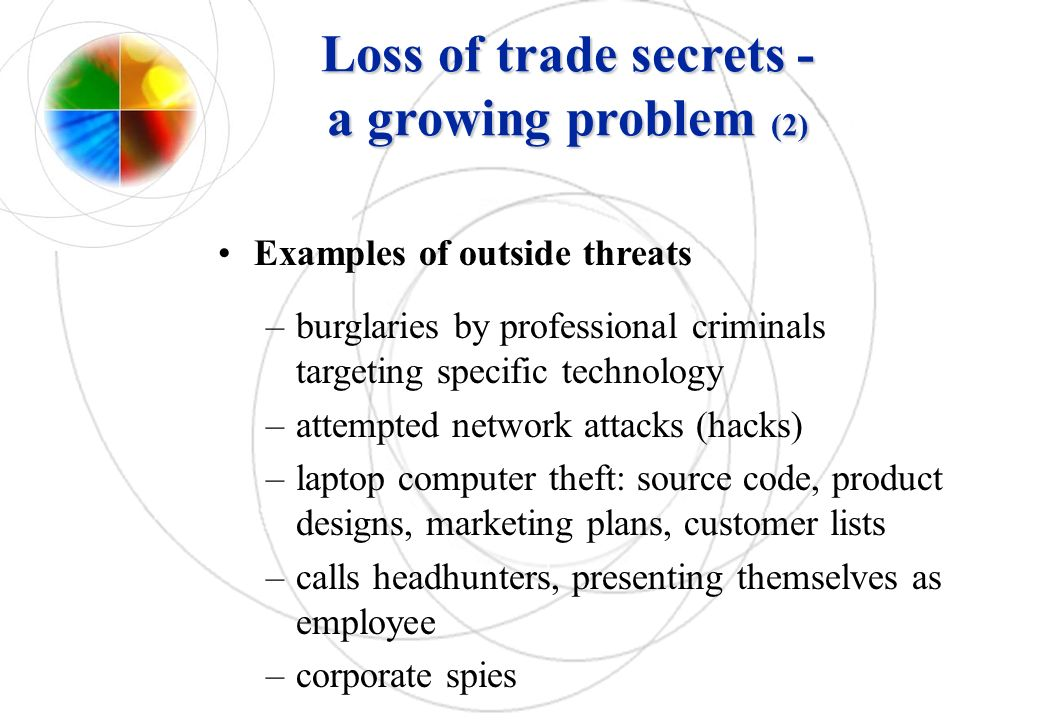 Loss of trade secrets - a growing problem (2)