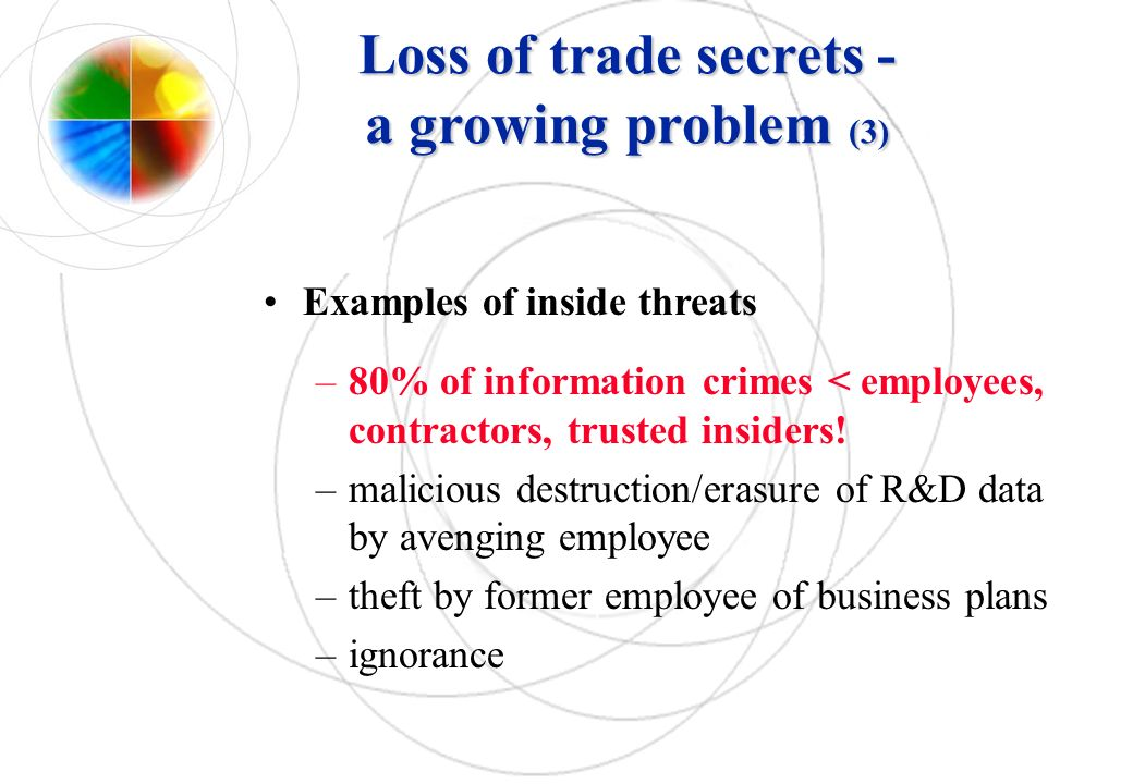 Loss of trade secrets - a growing problem (3)