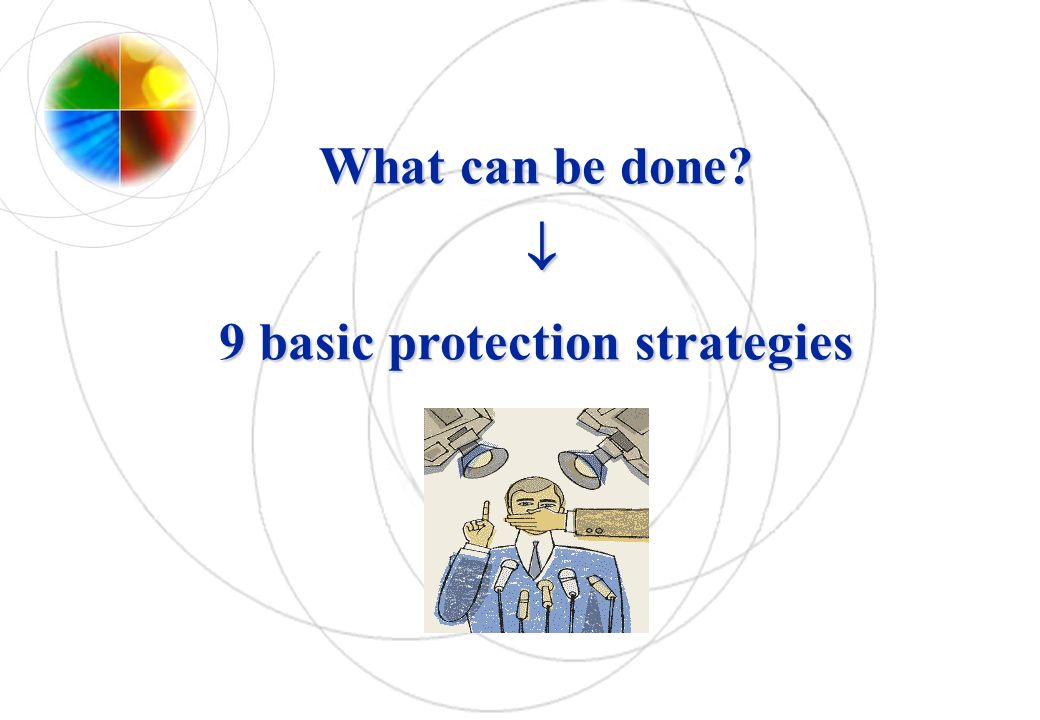 What can be done  9 basic protection strategies