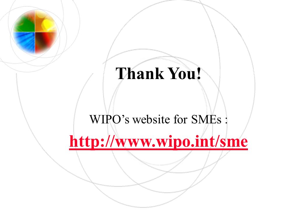WIPO's website for SMEs :