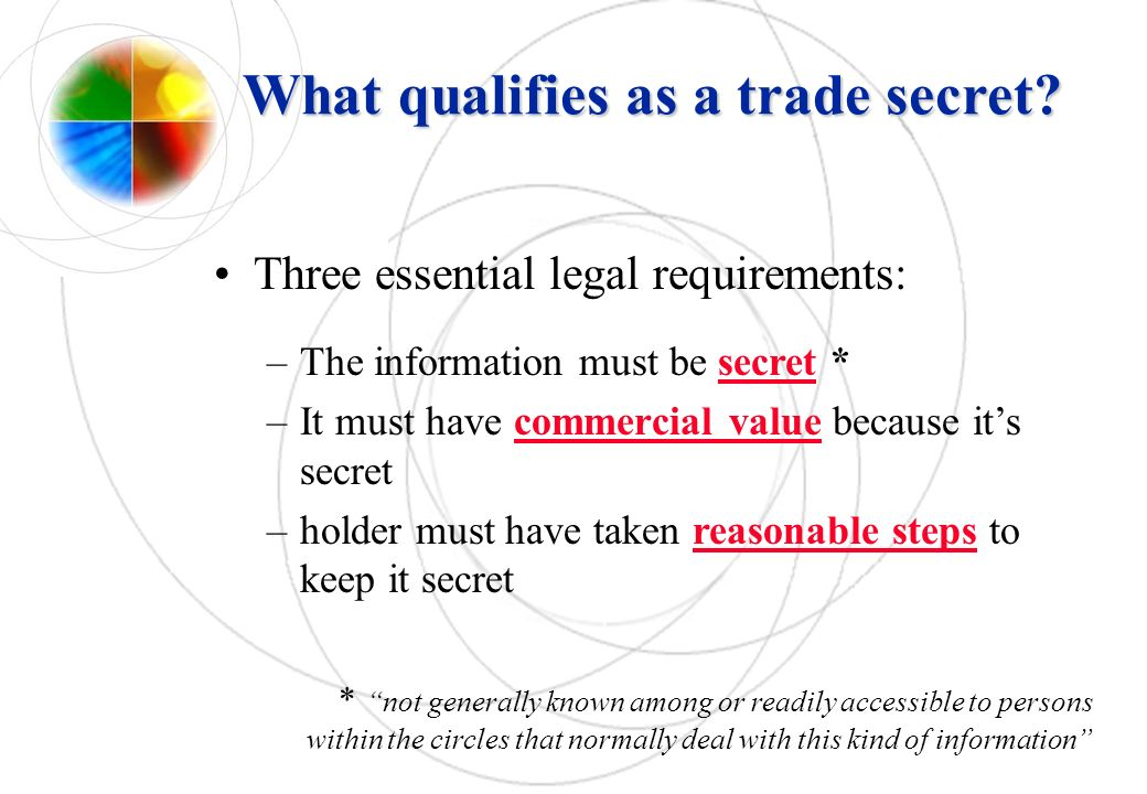 What qualifies as a trade secret