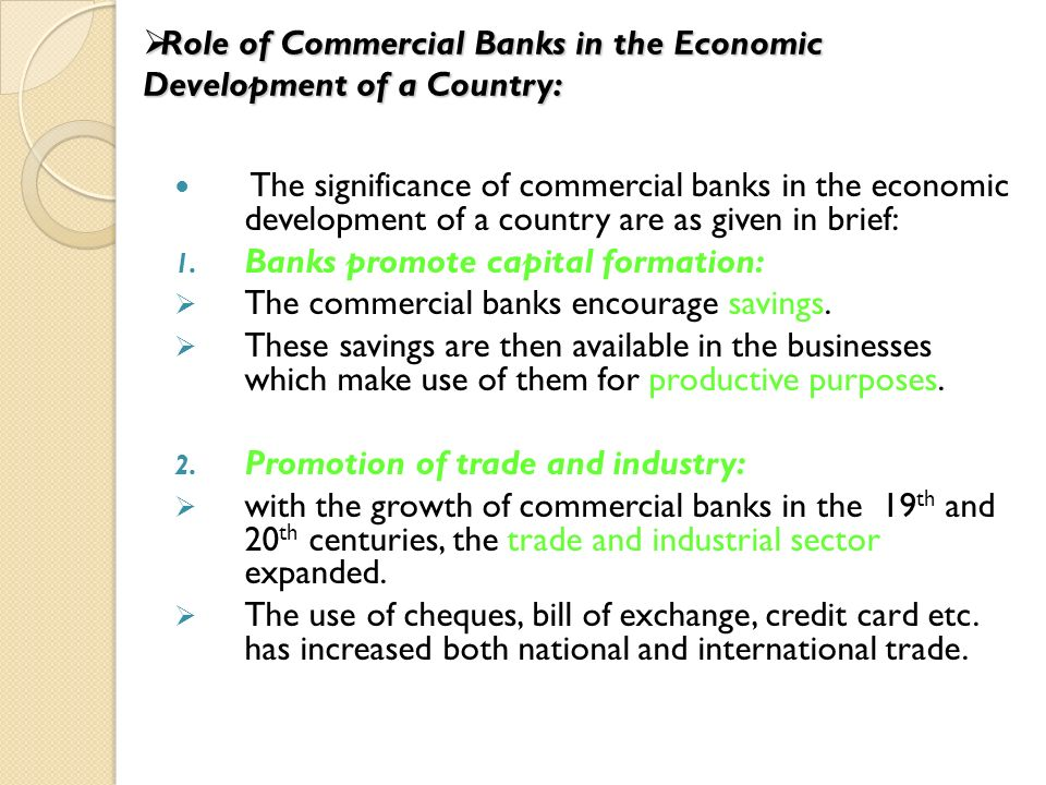 Top 8 Roles of Commercial Banks in a Developing Country
