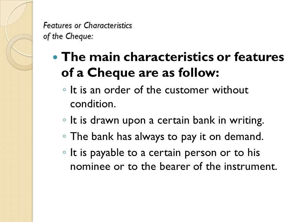 the characteristics of bank Central bank: a government established agency responsible for controlling the nation's money supply & credit conditions & supervising the financial system especially in commercial banks & other depository institutions the main characteristics of a central bank are given as below - note issue.