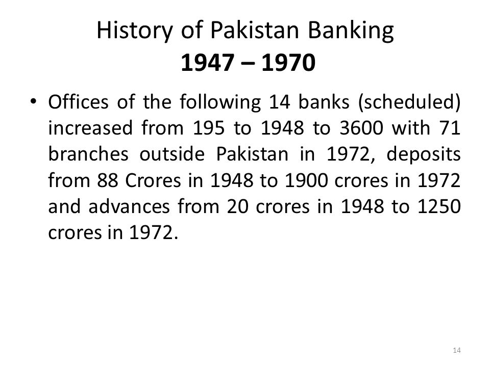 history of banking in pakistan Advans pakistan is a microfinance bank which provides adapted financial  services including accessible loans, attractive deposits and insurance to msmes  and.