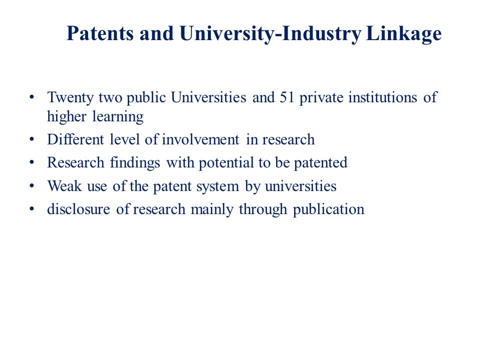 Patents and University-Industry Linkage