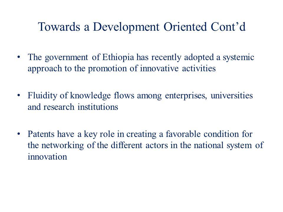 Towards a Development Oriented Cont'd