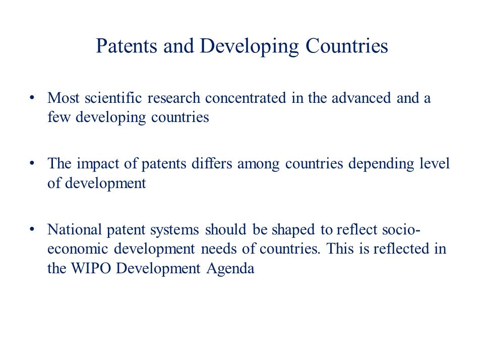Patents and Developing Countries