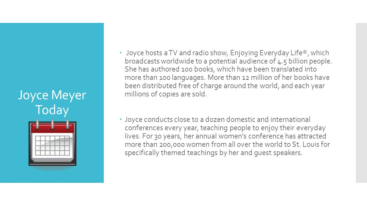Joyce Meyer Enjoying Everyday Life Quotes Joyce Meyer Joyce Meyer Is One Of The World's Leading Bible