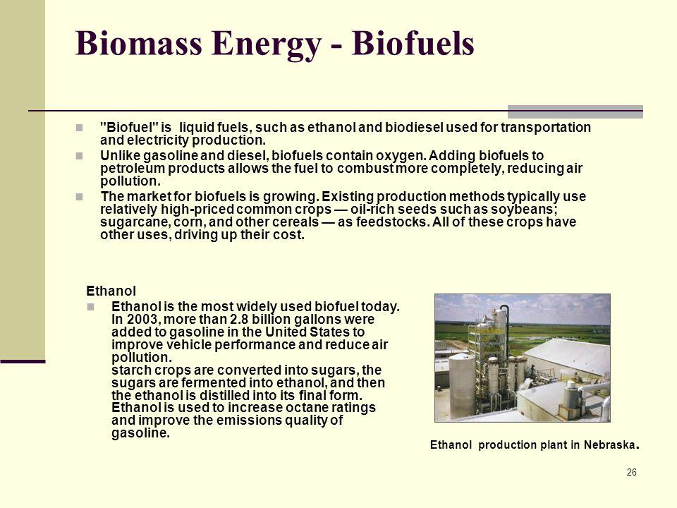 Biomass Energy - Biofuels