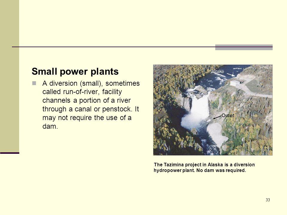Small power plants