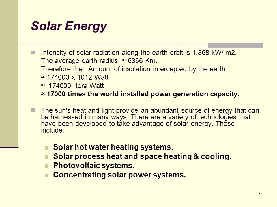 Solar Energy Solar hot water heating systems.