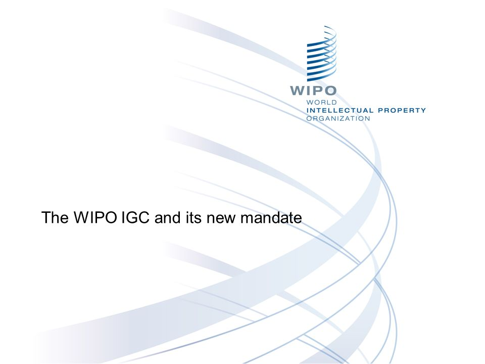 The WIPO IGC and its new mandate