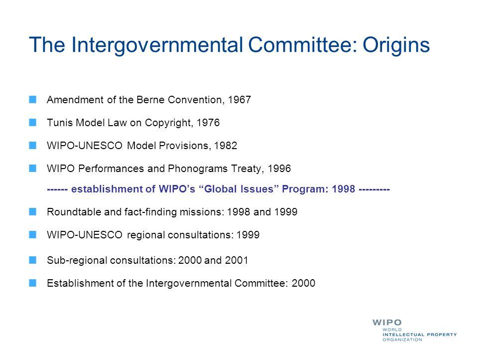 The Intergovernmental Committee: Origins