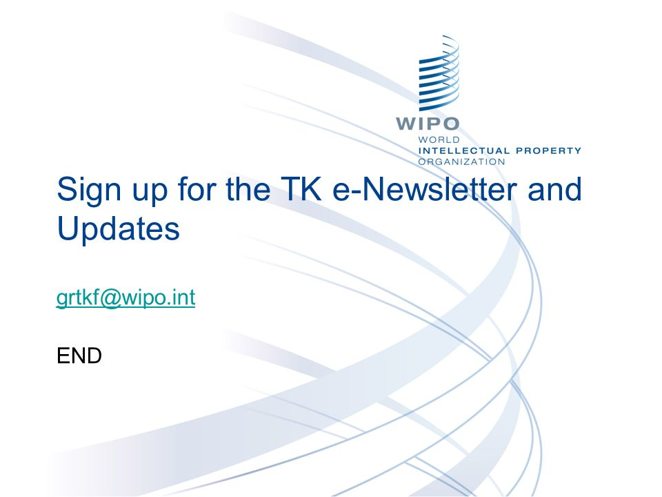 Sign up for the TK e-Newsletter and Updates