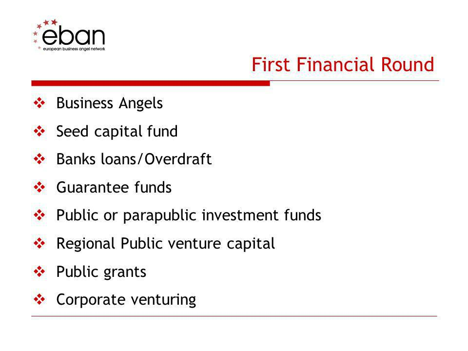 First Financial Round Business Angels Seed capital fund