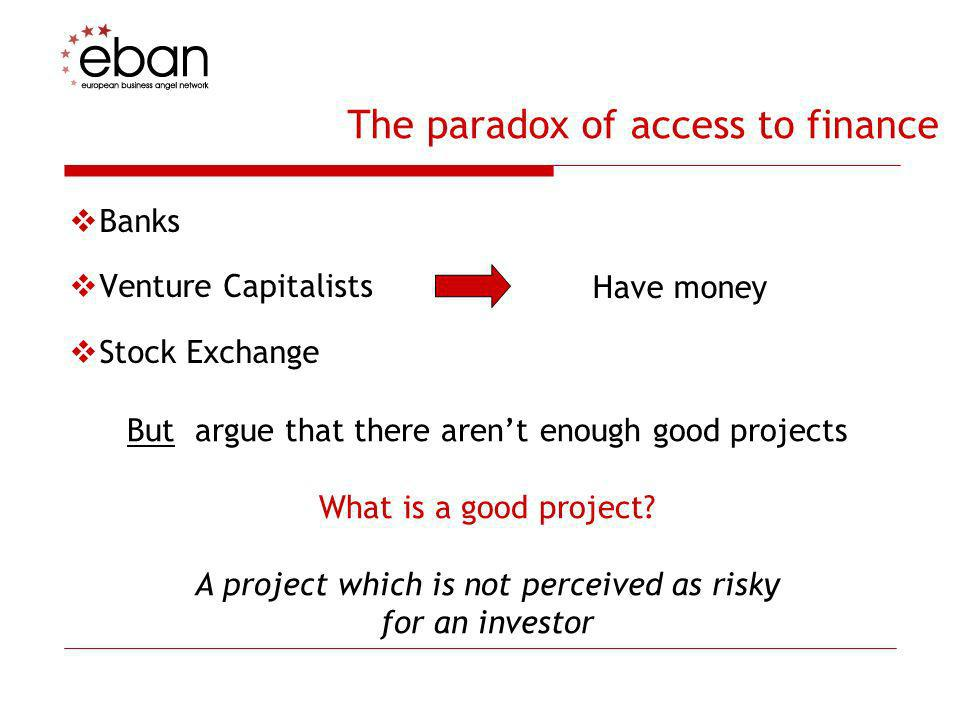 The paradox of access to finance