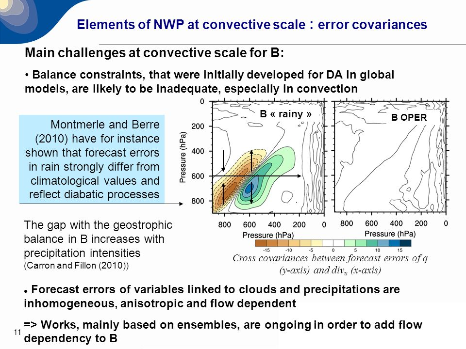 Elements of NWP at convective scale : error covariances