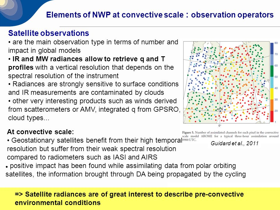 Elements of NWP at convective scale : observation operators