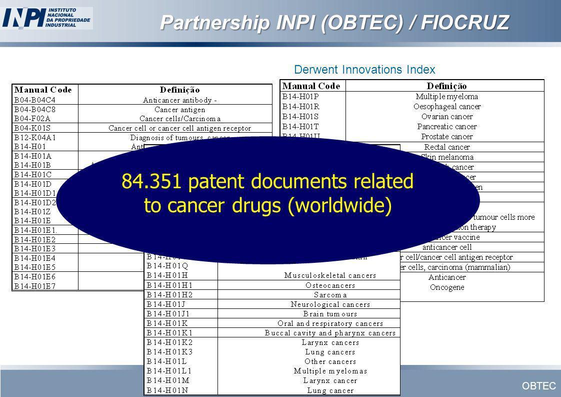 Partnership INPI (OBTEC) / FIOCRUZ