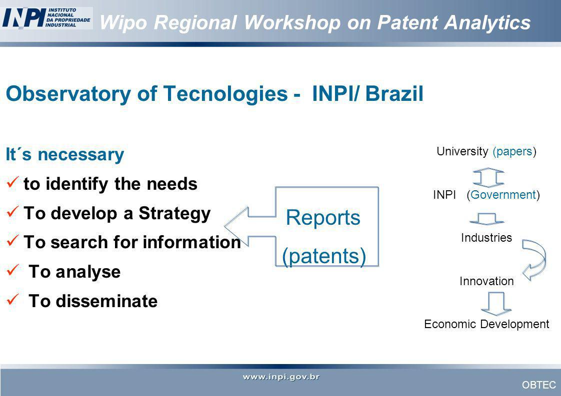 Wipo Regional Workshop on Patent Analytics
