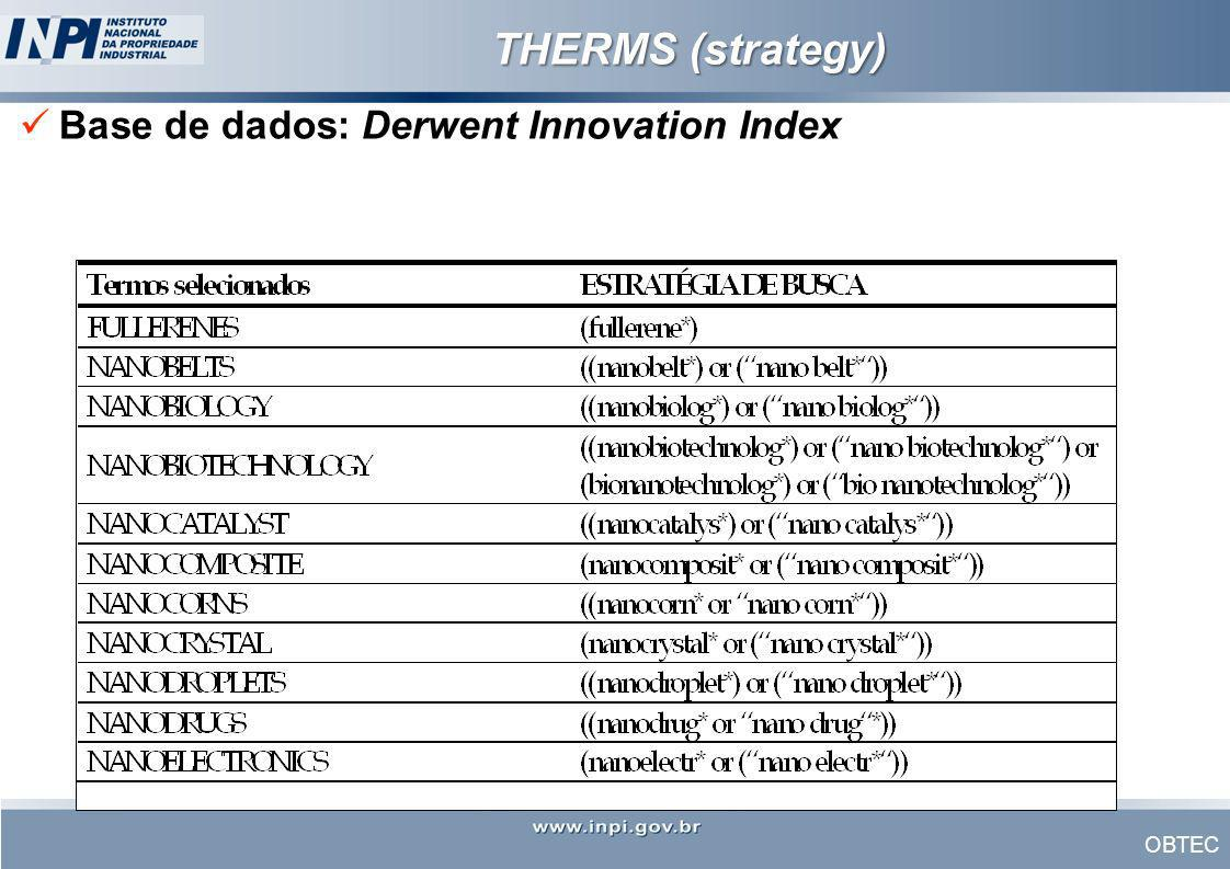 THERMS (strategy) Base de dados: Derwent Innovation Index
