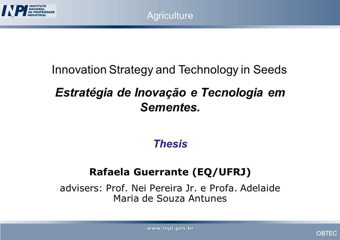 Estratégia de Inovação e Tecnologia em Sementes.