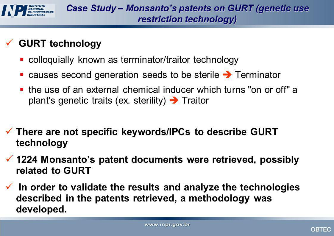 There are not specific keywords/IPCs to describe GURT technology