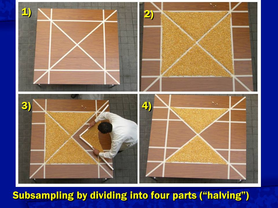 Subsampling by dividing into four parts ( halving )