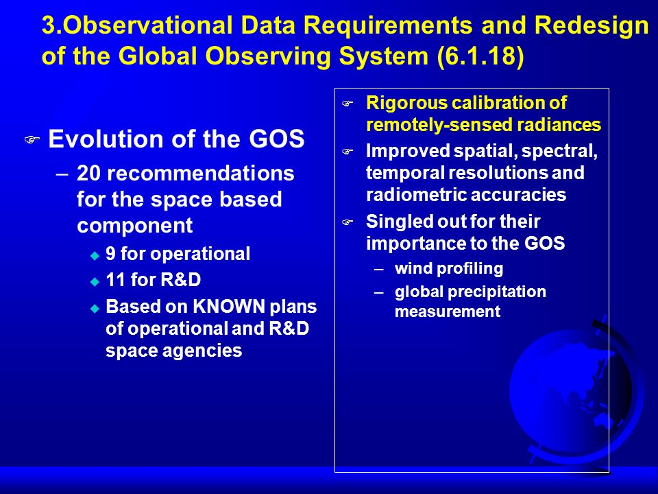 3.Observational Data Requirements and Redesign
