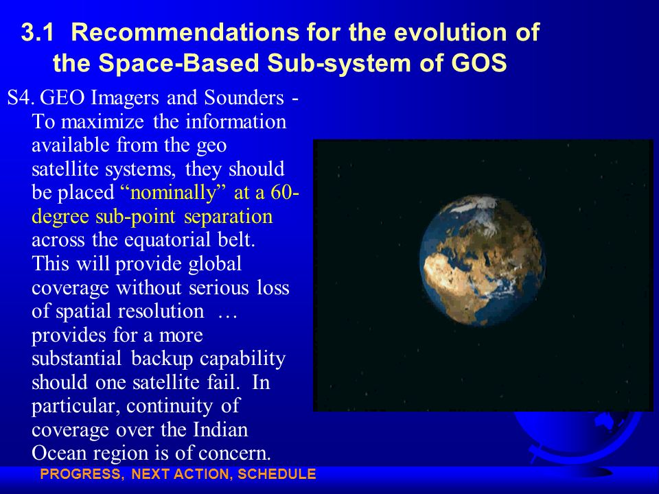 3.1 Recommendations for the evolution of the Space-Based Sub-system of GOS