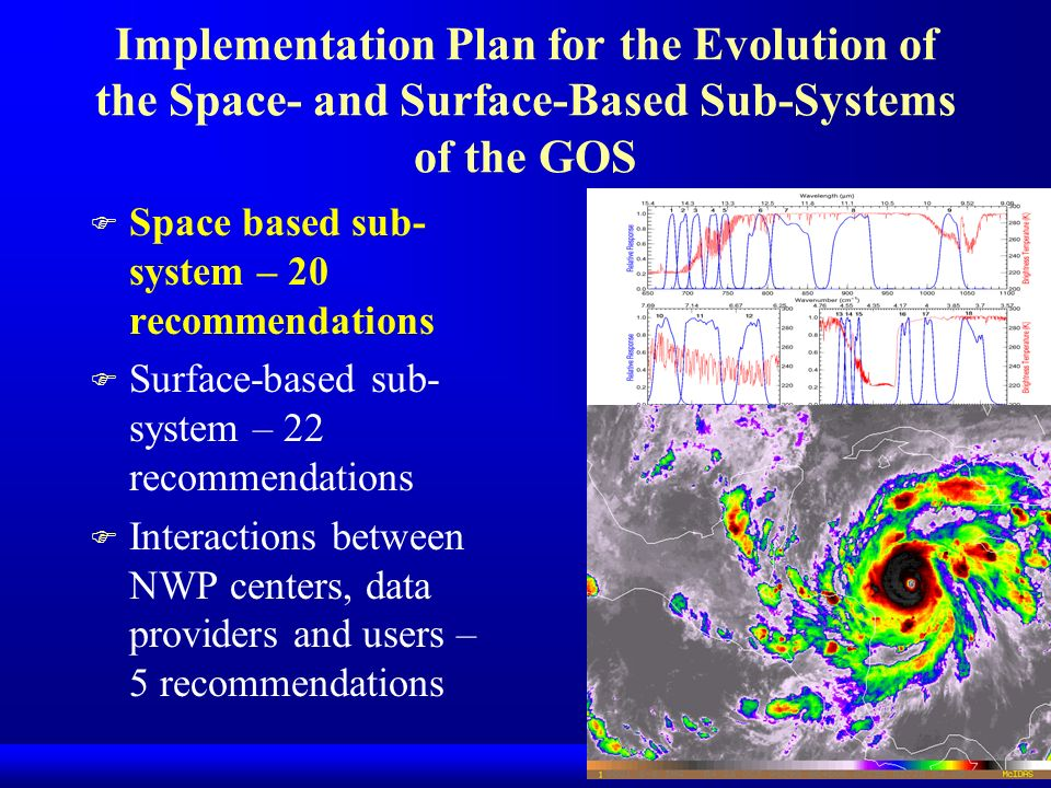 Implementation Plan for the Evolution of the Space- and Surface-Based Sub-Systems of the GOS