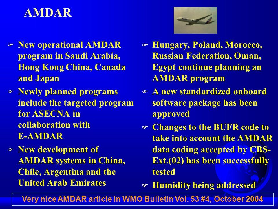 Very nice AMDAR article in WMO Bulletin Vol. 53 #4, October 2004