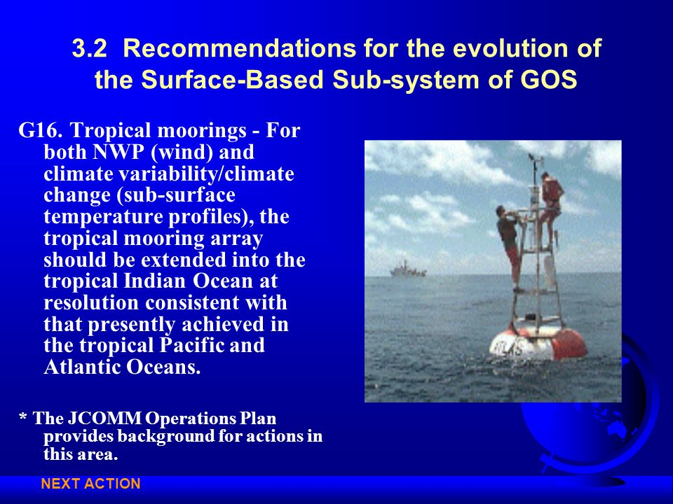 3.2 Recommendations for the evolution of the Surface-Based Sub-system of GOS