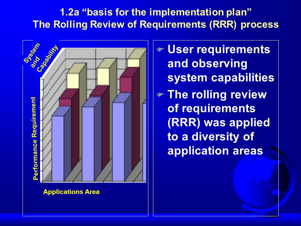 User requirements and observing system capabilities