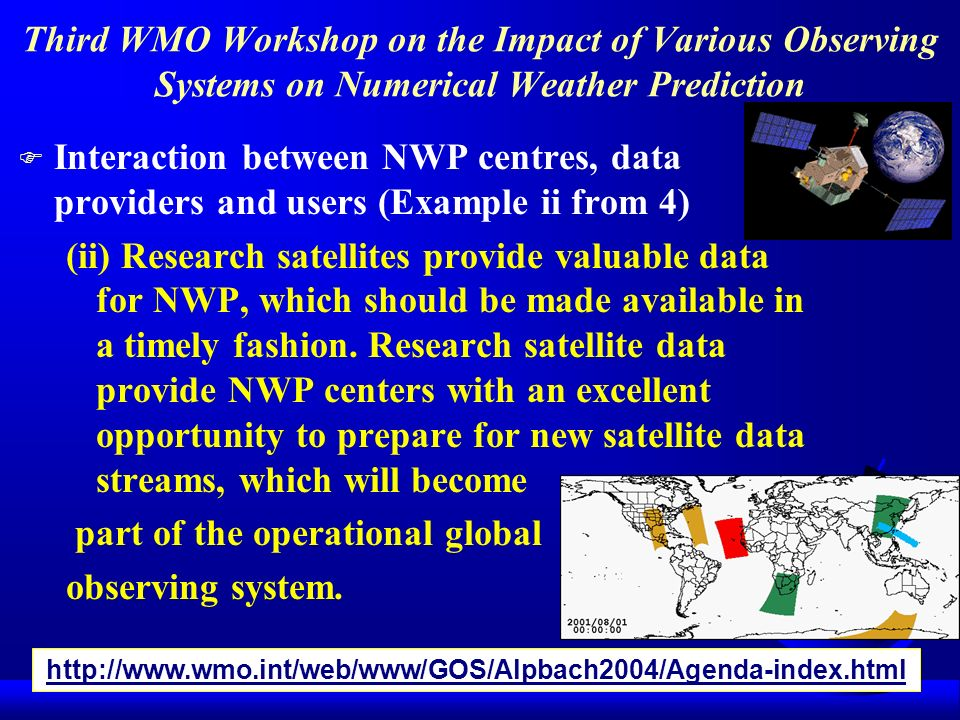 part of the operational global observing system.